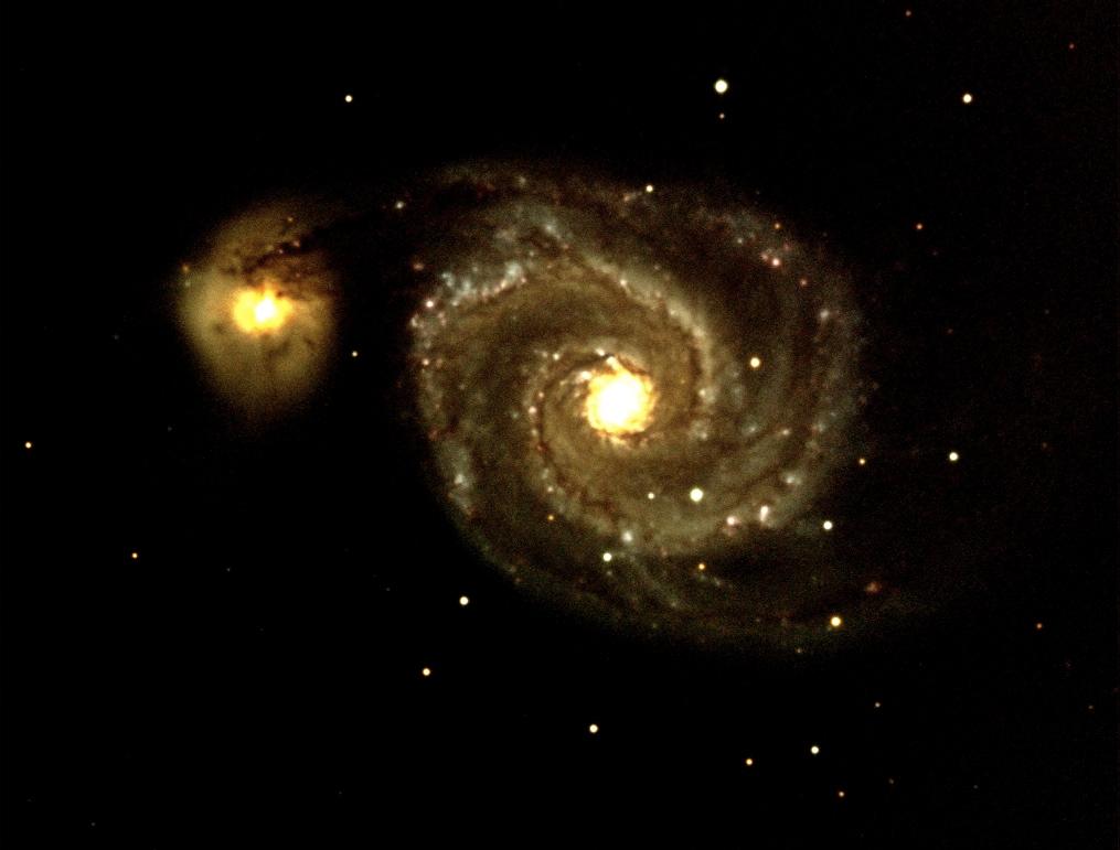 Whirlpool Galaxy (M51) LRGB und HDR