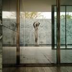 Barcelona Pavillon - Blick auf die Skulptur im Innenhof