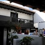 Kleiner Innenhof im La Cantina